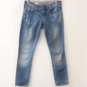 GAP Always Skinny Jeans with paint details size 4